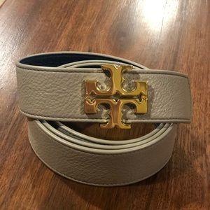 Tory Burch reversible belt grey/teal